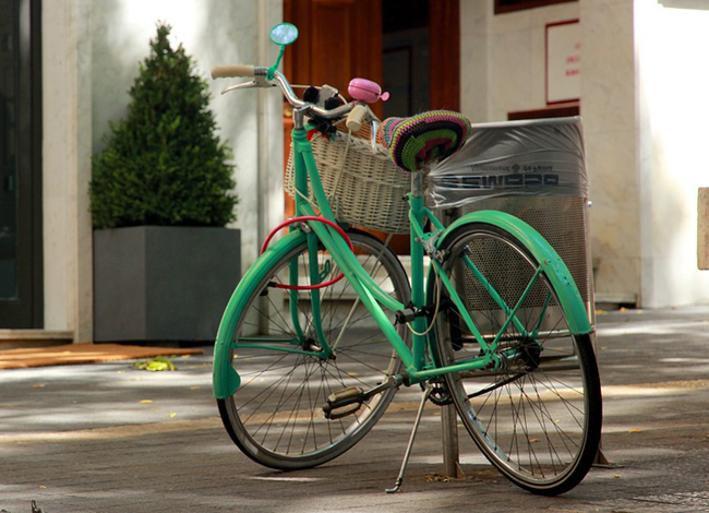 vélo repeint